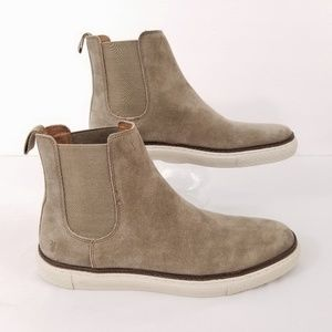 Frye Mens Gates Chukka Chelsea Boots Taupe Suede